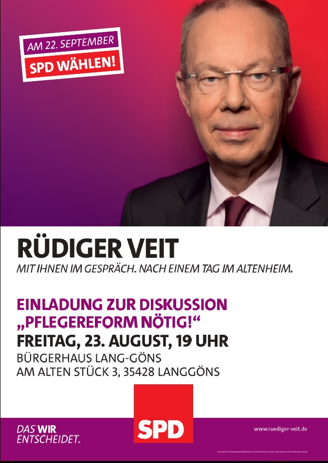 Rüdiger Veit rüdiger veit im gespräch diskussion pflegereform nötig spd